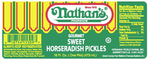 Nathan's Famous Sweet Horserdish Pickles